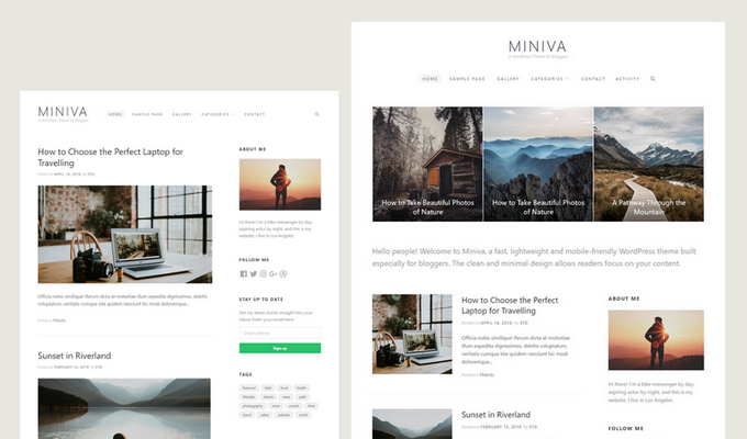 Miniva WordPress Theme