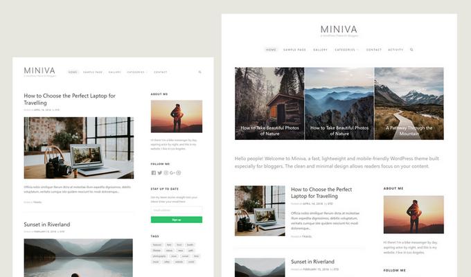 Miniva WordPress Theme